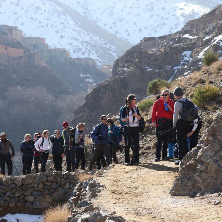 Summiting Toubkal